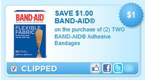 Band-aid Adhesive Bandages Coupon
