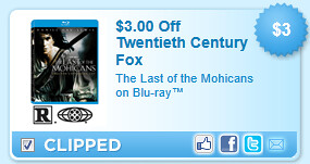 The Last Of The Mohicans On Blu-ray Coupon