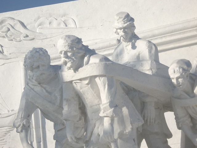 Volga Boatmen Snow Sculpture, Harbin