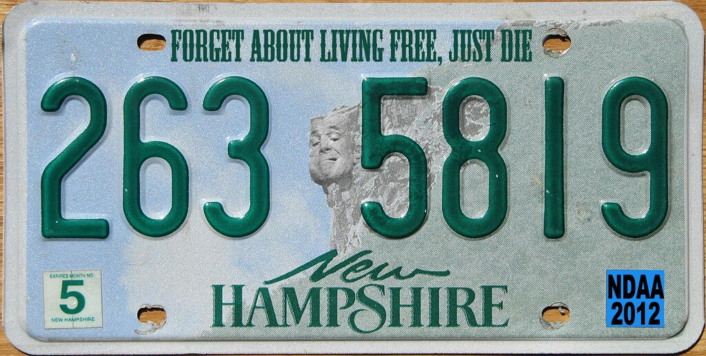 NEW HAMPSHIRE NDAA PLATE