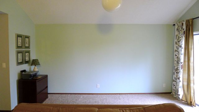 Living room wall empty