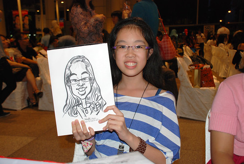 caricature live sketching for kidsREAD Volunteer Appreciation Day 2011 - 10