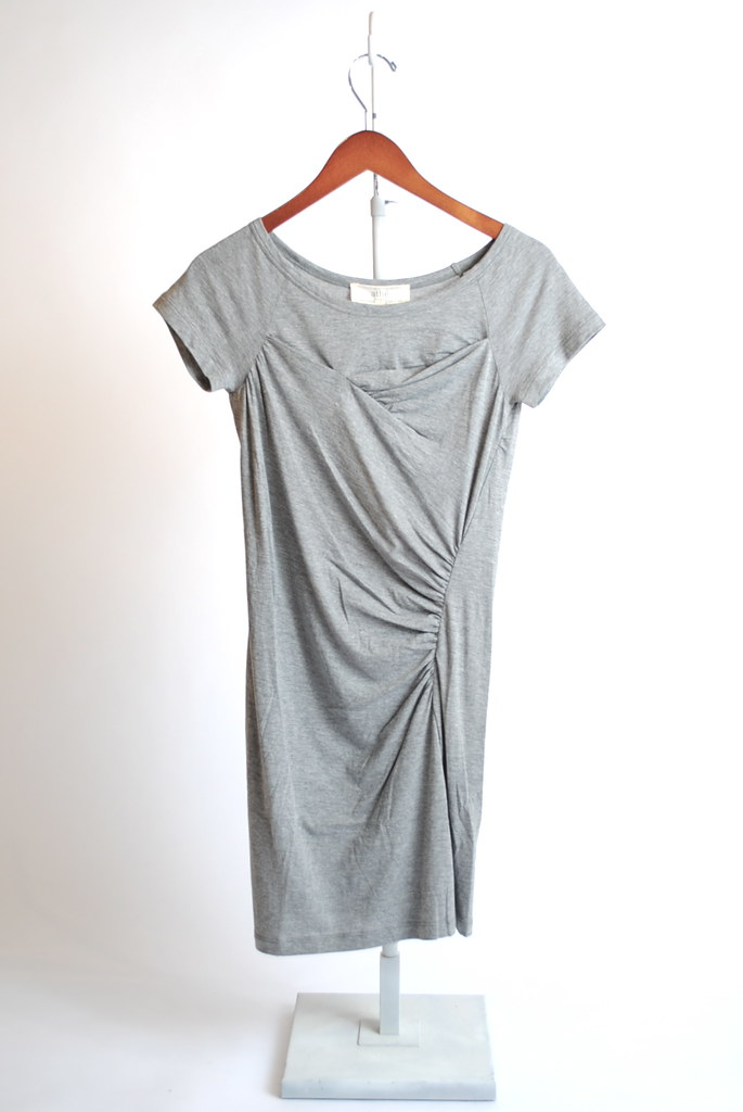 Cotton Drape Side Dress