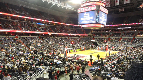 Wizards vs Raptors at Verizon Center 1/10/12