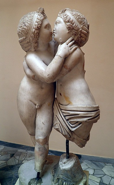 Cupid and Psyche, Marble, from the Domus of Amore e Psiche, Ostia Antica, Italy