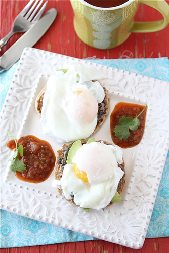 Southwestern-Eggs-Benedict-with-Black-Bean-Spread-Avocado-&-Salsa-Recipe-Cookin-Canuck