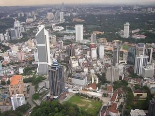 View from the Petronas twin towers (Kuala Lumpur, Malaysia 2003)