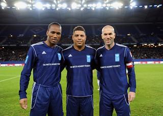 Ronaldo, Zidane and Drogba come together