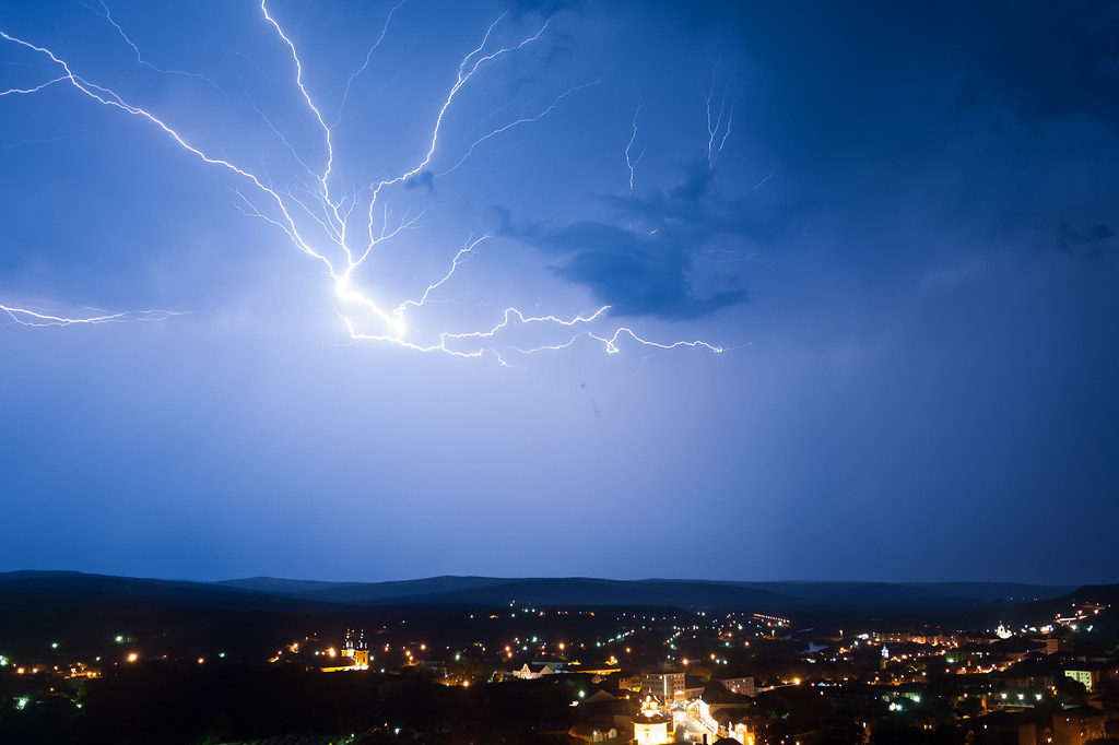Thunder over Blaj, Romania