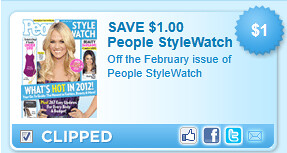 February Issue Of People Stylewatch Coupon