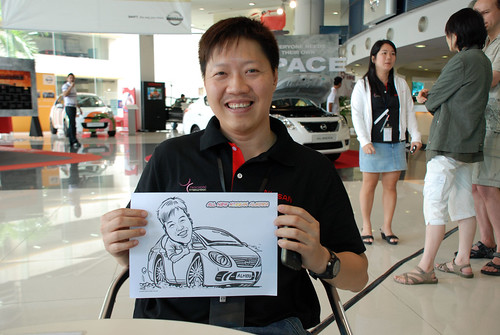 Caricature live sketching for Tan Chong Nissan Motor Almera Soft Launch - Day 3 - 2