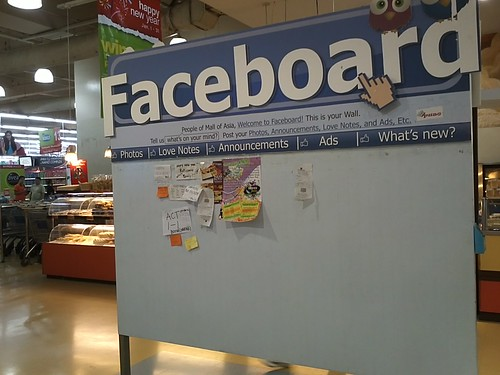 Mobile blog : the Faceboard of SM MOA by popazrael