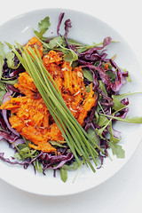 Sweet Potatoes, Red Cabbage and Rocket