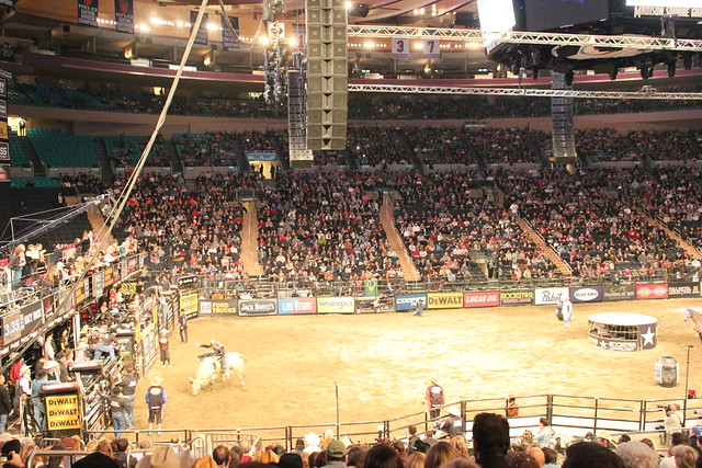 My View Of The Pbr Action From Our Seats At Madison Square Garden Flickr Photo Sharing