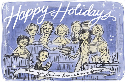 ABLA holiday card: 2nd rough