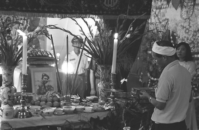 C7-16[1] Funeral altar for Vietnamese police chief killed by a U.S. rocket; Saigon, June 1968