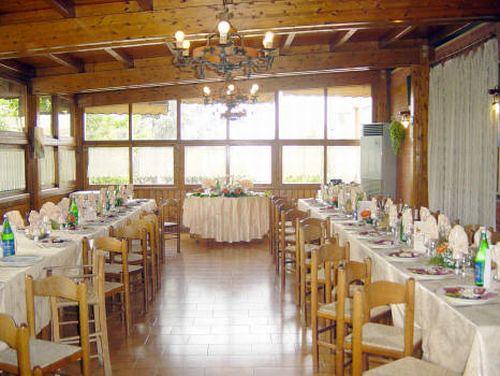 Sala ricevimenti del Ristorante Hotel Nuova Campagnola a Monte Compatri