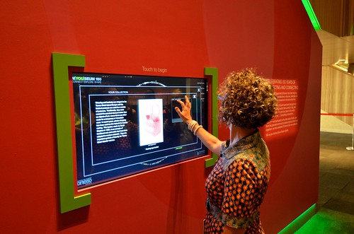 Interactive touch screen technology to learn about Queensland's flora and fauna