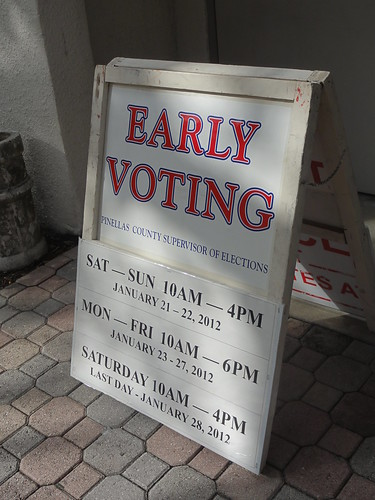 "Florida ""Early Voting"" sign"