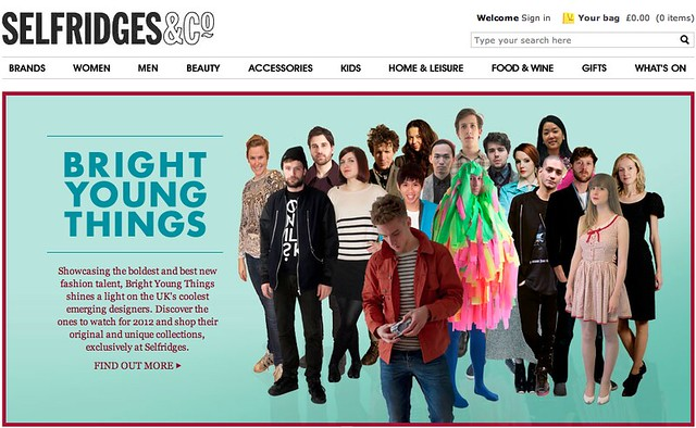 Selfridges - Bright Young Things Website