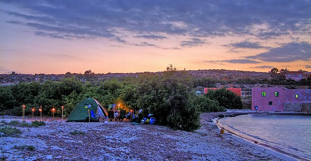 Camping in Comino