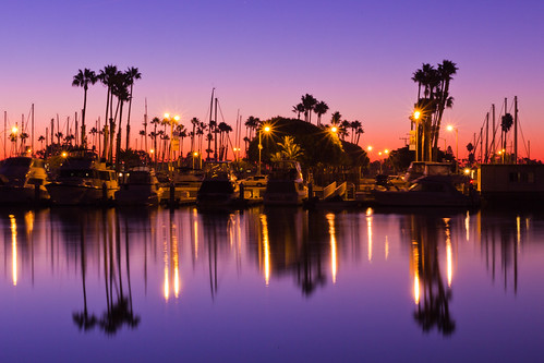 california christmas ca travel blue sky reflection beach water marina sunrise canon boats dawn harbor long december day purple shoreline magenta clear socal palmtree tamron masts f28 laist 2011 1750mm 60d tamronspaf1750mmf28xrdiiivcldasphericalif