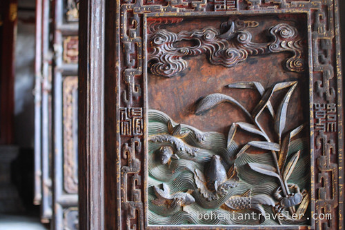 door dtail at Confucian Temple in Jianshui
