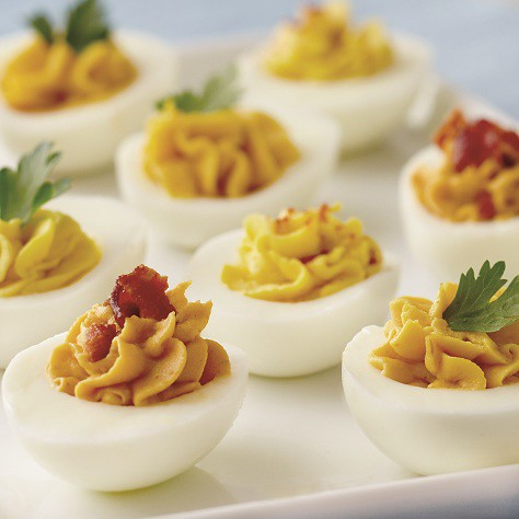 Habanero Aioli Deviled Eggs recipe