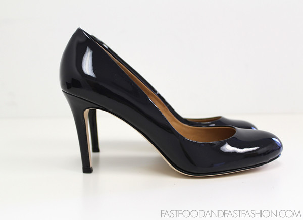 ann taylor AT perfect pump patent dark navy profile