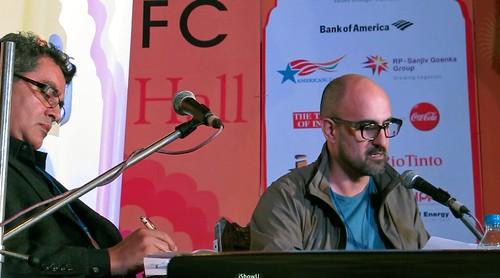 Amitava Kumar & Salman Rushdie read from Satanic Verses