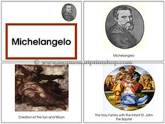 Michelangelo Art Book (Image from Montessori Print Shop)