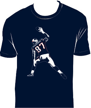 Gronk on shirt right color