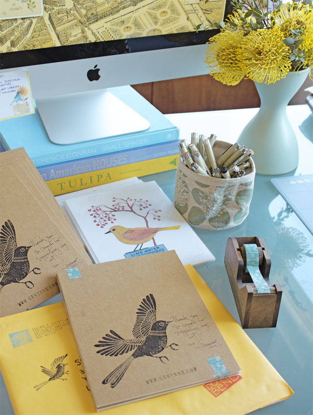 On my desk