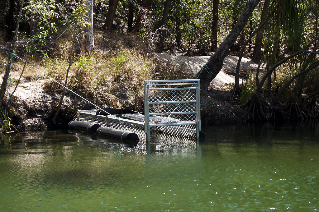 Crocodile trap, Twin Falls, Darwin