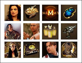 free The Mummy slot game symbols