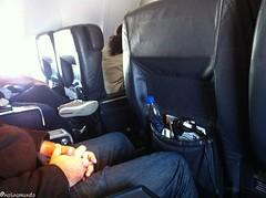 Assento da classe executiva da  Copa Airlines
