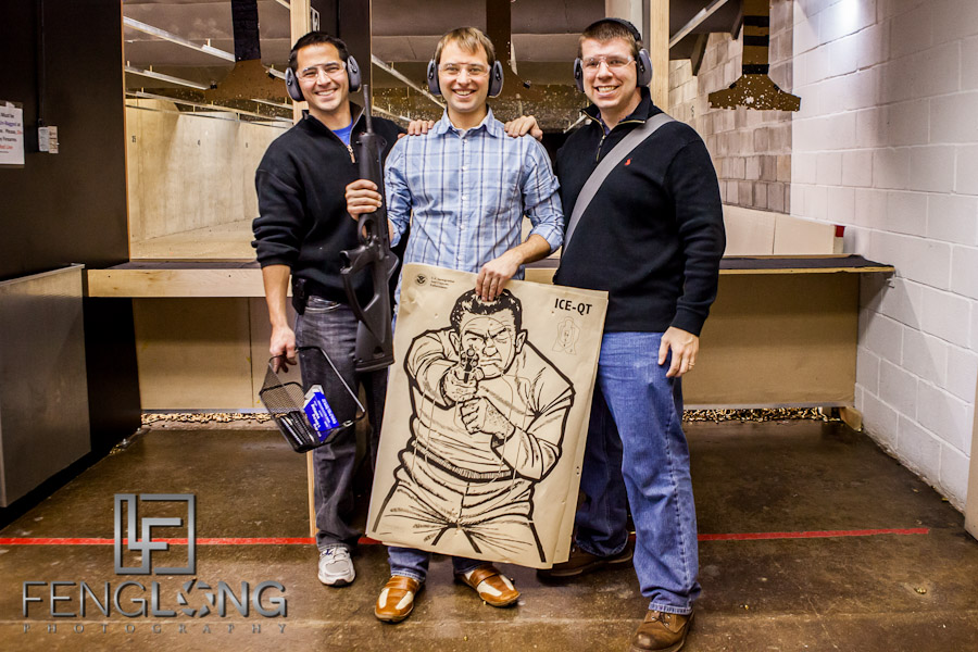 John's Bachelor Party | Quickshot Shooting Gallery & Highland Cigar Co | Atlanta Wedding Photographer