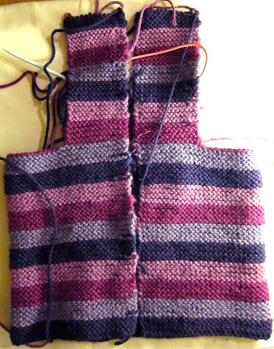 Striped Toddler Tomten progress