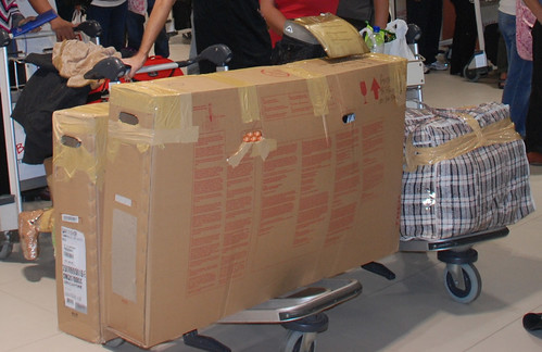 Packing A Bicycle In A Cardboard Box For Flying