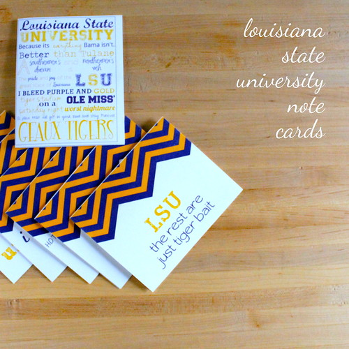 lsu note cards