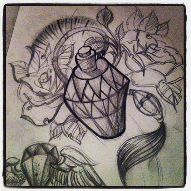 newschool sleeve sketch tattoo newschool traditional