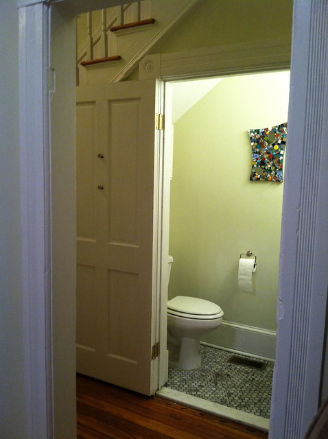 1 2 bathroom under stairs flickr photo sharing for Bathroom under stairs