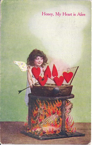 Vintage Valentine-Honey, My Heart is Afire 1909