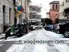 Via Marziale a Formia, neve
