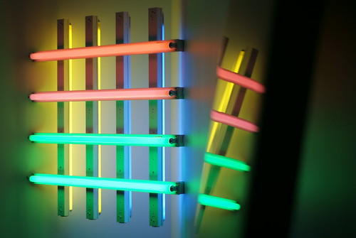 Dan Flavin in John McCracken @ MCA