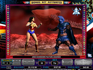 Wonder Woman bonus game