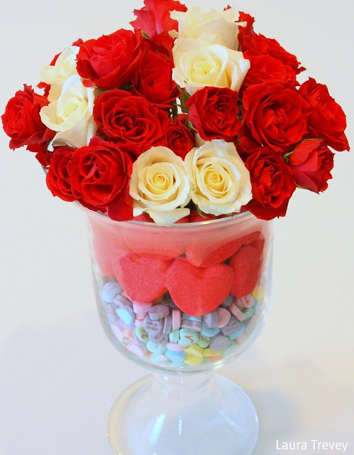 Valentine's Day Centerpiece brightboldbeautiful.com