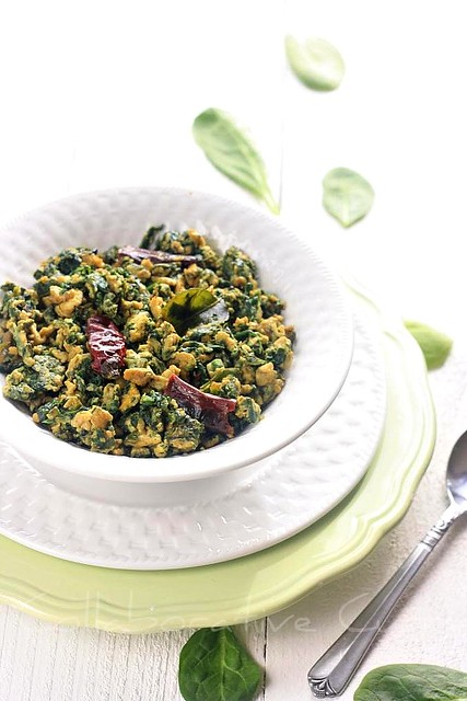 Spinach-Egg Stir Fry