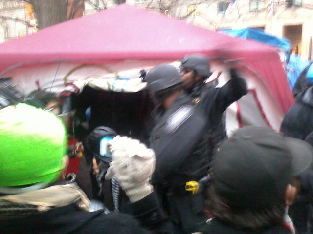 Cops raid the library tent