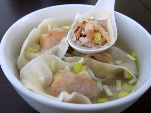 [Photo-shrimp wonton served in superm broth]